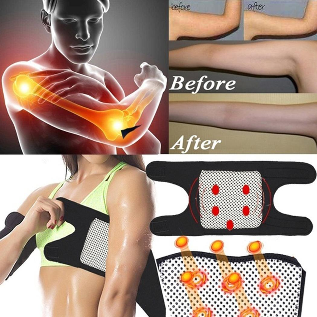 Pain Relief Self Healing Magnetic Therapy Brace Elbow Home, Salon, etc Fastening Tape Support Unisex Belt