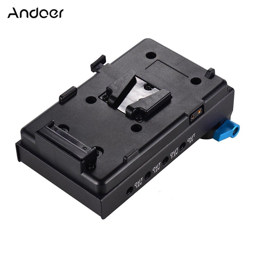 Andoer V Montieren Batterie Platte Adapter mit Dual Loch Rod Clamp Dummy Batterie Adapter für BMCC Canon für Audio Recorder mikrofon-in Fotostudio-Zubehör aus Verbraucherelektronik bei AliExpress - 11.11_Doppel-11Tag der Singles 1