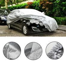 M L XL XXL Universal Full Car Cover Anti Rain Snow Ice Waterproof Dustproof UV Outdoor cheap 4 9cm Polyester Taffeta Car Covers Auto Body Covers 0 7kg 1 8cm 1 5cm