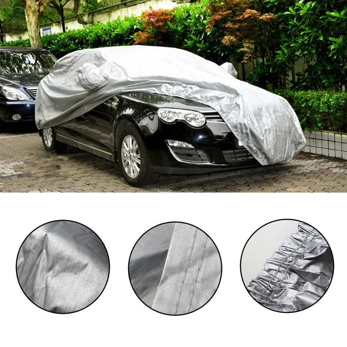 M/L/XL/XXL Universal Full Car Cover Anti Rain Snow Ice Waterproof Dustproof UV Outdoor