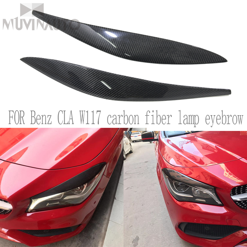 For Benz CLA W117 carbon fiber lamp eyebrow CLA 180 200 220 260 CLA carbon fiber eyebrow