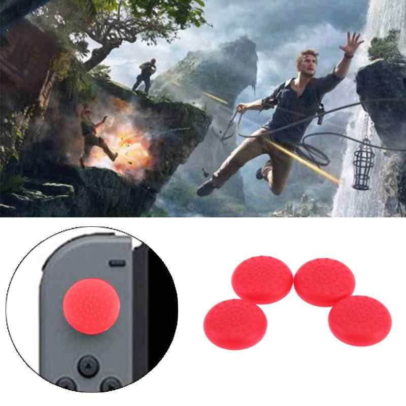 Nero/Rosso/Blu/Trasparente 4pcs Gamepad Joystick Pulsante Copertura di Caso di TPU Controller Thumb Grips Cap per nintendo Interruttore Joy-Con NS