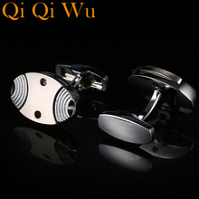 New For Mens Silver Jewelry Gifts Party Cuff links Shirt Cufflink High Quality Free Shipping Business Wedding Button RL-8060 free shipping 8060 6039b 8060 6039 good quality