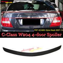 цена на For Benz W204 Spoiler FRP Unpainted Car Rear Wing Primer Color Rear Spoiler W204 C180 C200 C260 C280 C300 C74 Spoiler 2007-2013