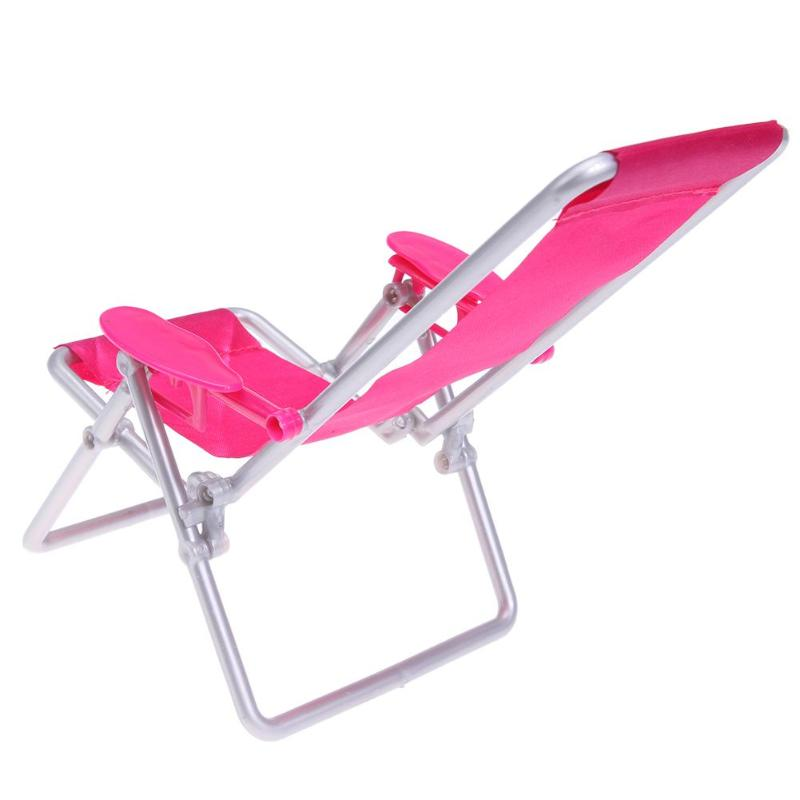 Foldable Deckchair Lounge Beach Chair Furniture for Barbie Doll PrincessToy