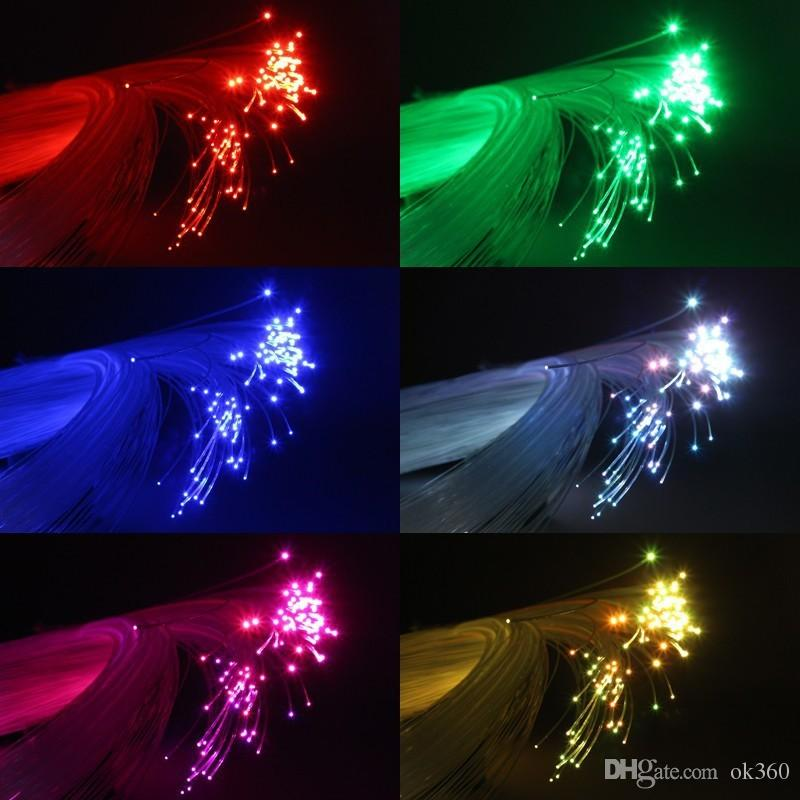DMX512 50W twinkle RGBW LED fiber optic star ceiling kit lights 1000pcs 0 75mm 5m with 28Key RF remote Crystal in Optic Fiber Lights from Lights Lighting