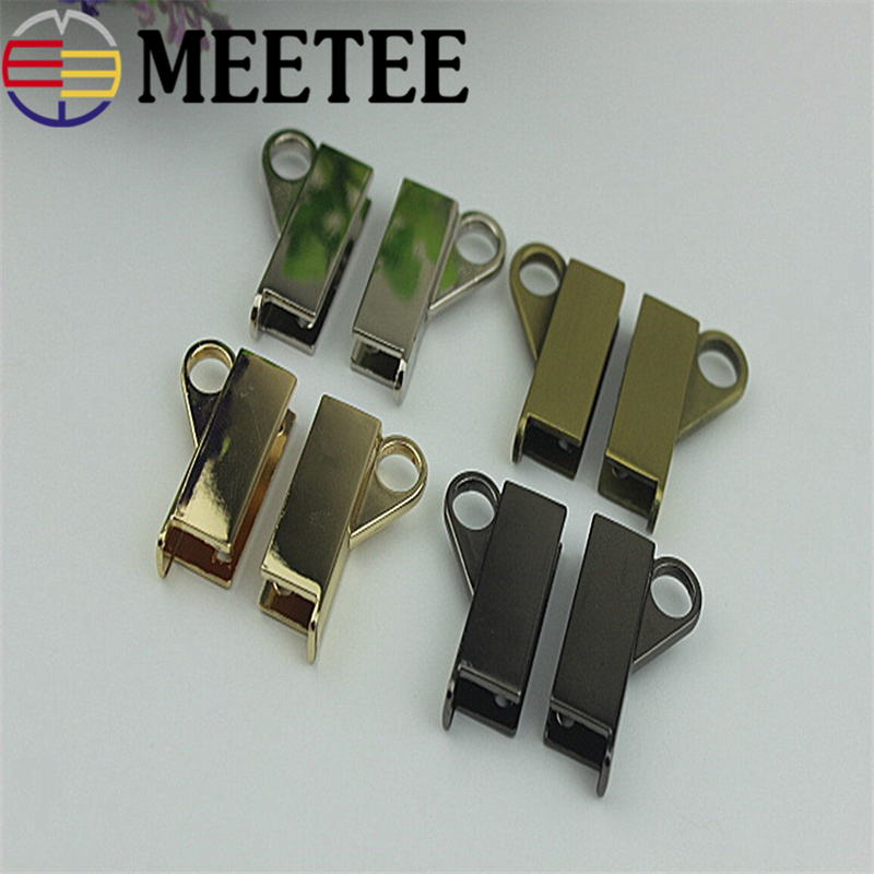 meetee Metal Bag Hardware Accessories Womens Handbag Clasp Lock Buckle Diy Shoes Part Leathercraft Craft 4 Colors 1set 7pcs