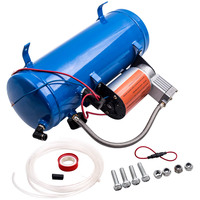 AIR COMPRESSOR WITH 6L TANK FOR TRAIN HORNS MOTORHOME TIRES 12V DC 150PSI Kit Train Truck Horn
