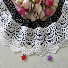 Wide 6cm White Black Tulle Lace Materials For Wedding Fabric High Quality African Trim Ribbon Flower DIY Sewing Crafts L001