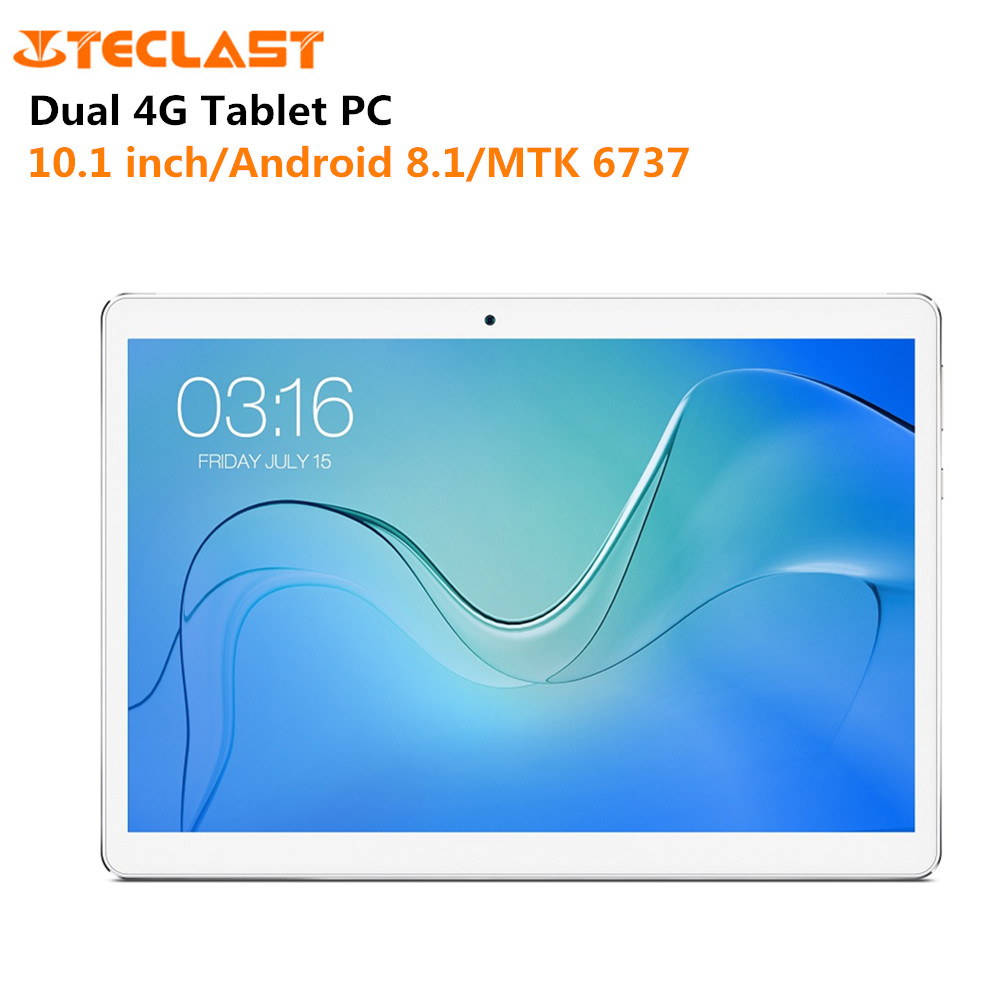 Teclast P10 4G Phablet 10.1 pouces Android 8.1 MTK 6737 Quad Core 2 GB RAM 16 GB ROM 1280*800 GPS double bande 2G/3G tablette réseau PC