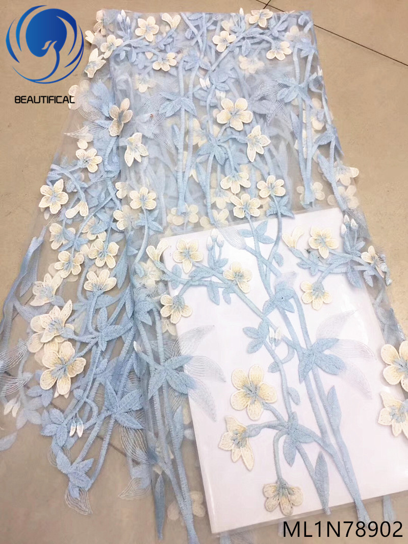 BEAUTIFICAL lace fabric embroidery women dresses french applique embroidery tulle net lace african fabric ML1N789BEAUTIFICAL lace fabric embroidery women dresses french applique embroidery tulle net lace african fabric ML1N789