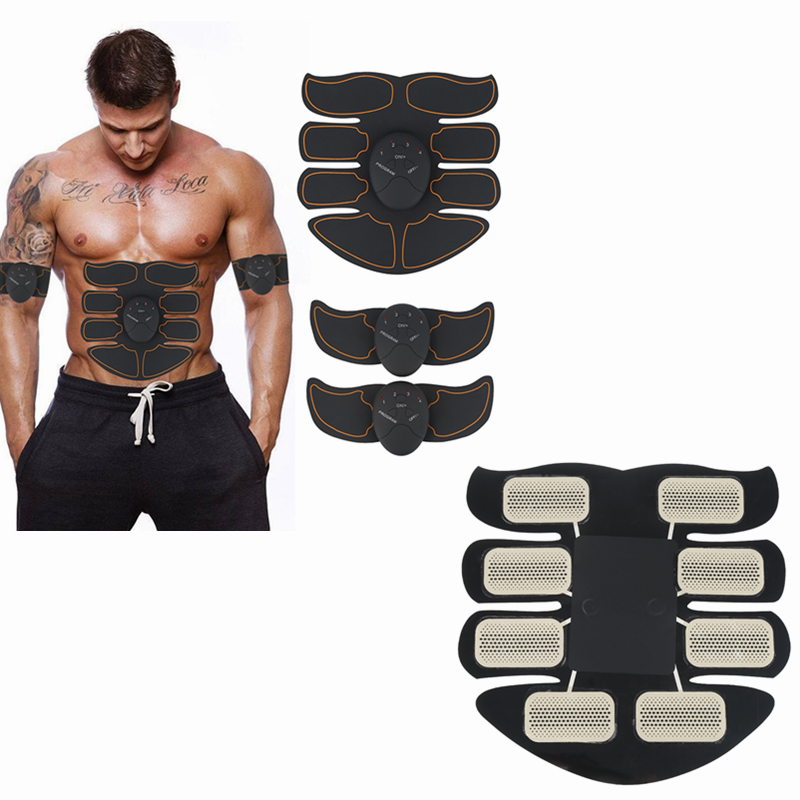Vibration Abdominal Muscle Trainer Power Smart EMS Electric Simulator Fitness Sport Training Equipment Keep Fit Toiletry Kits