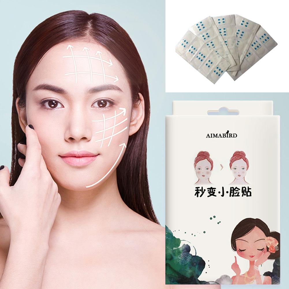 BellyLady 100 Pcs set Invisible Thin Face Stickers Face Wrinkle Sagging Skin V Shape Lift Up Adhesive Tape in Face Skin Care Tools from Beauty Health