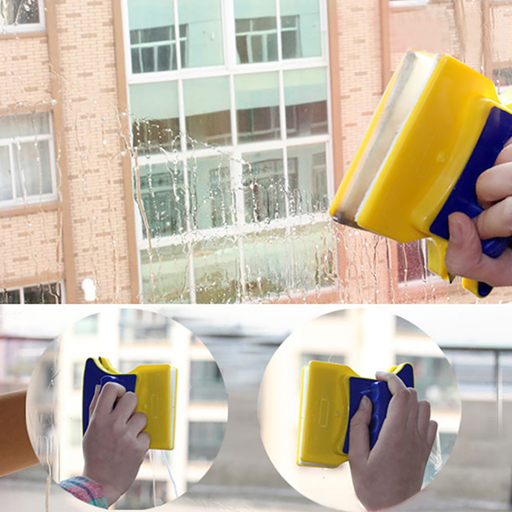 new double sided magnetic window glass cleaner and cleaning wizard surface cleaner wiper
