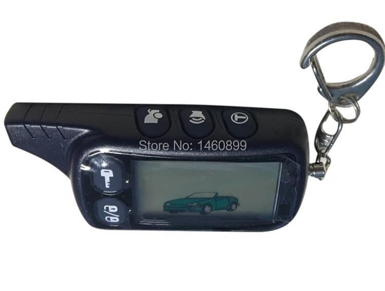 10 pçs/lote 2-way TZ 9010 LCD Controle Remoto Chave Fob Chaveiro para Tz9010 Versão Russa em dois sentidos do carro sistema de alarme Tomahawk Tz-9010