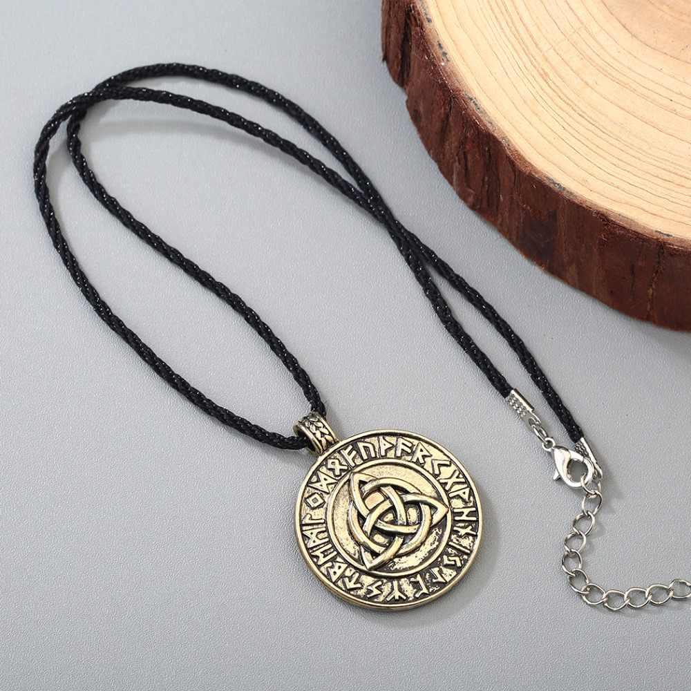 CHENGXUN mężczyzna naszyjnik Punk gotycki styl Nodic Viking wisiorek amulet węzeł miłości nieskończony słowiański talizman biżuteria mężczyźni chłopiec naszyjnik