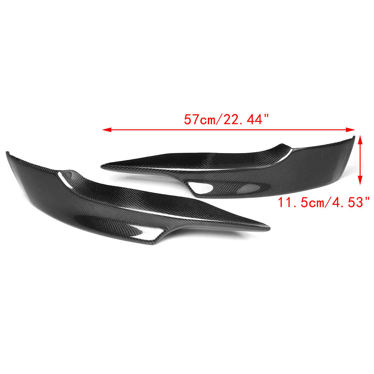 Image 5 - 2PCS Carbon Fiber M Sport Front Bumper Side Splitter Diffuser Lip for BMW E92 E93 2006 2007 2008 PRE LCI M TechBumpers   -