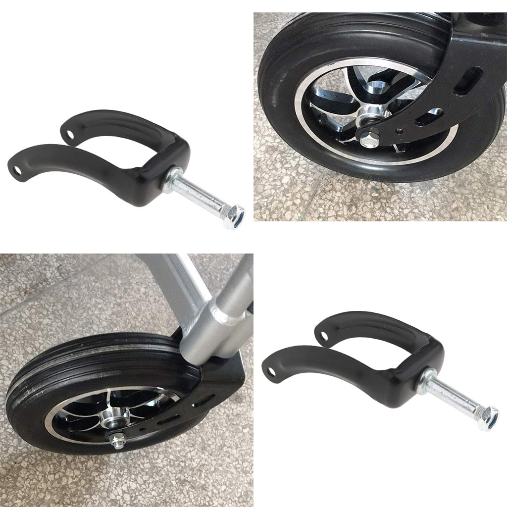Pack of 4pcs 8Inch Tire Fork Accessories on Wheelchair Rollator Rolling Walkers