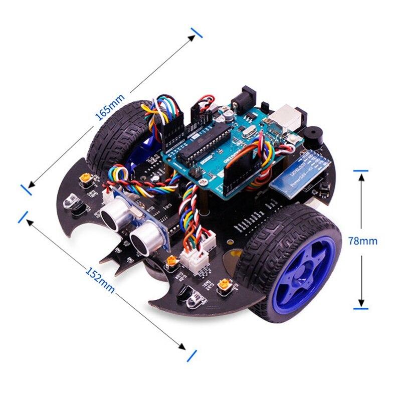 Applicable pour Arduino Uno Smart voiture Robot Kit bricolage Programmable éducation évitement d'obstacles Bluetooth télécommande voiture Us P - 3
