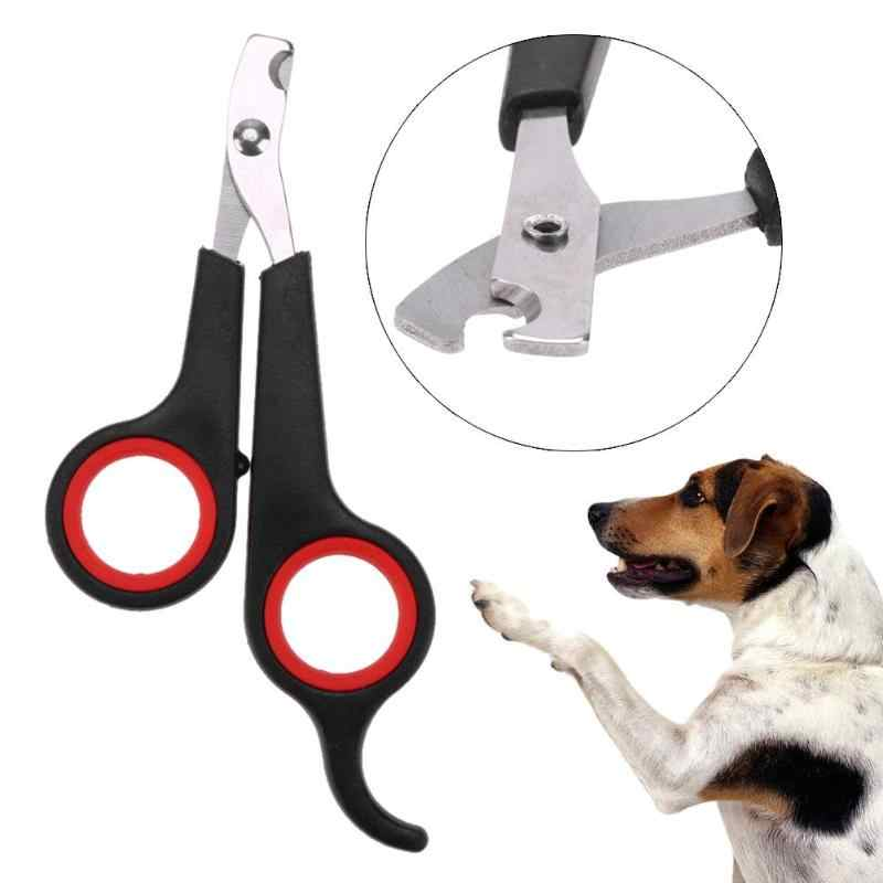 Cat Dog Pet Toe Nail Garra Clippers Scissors Tesouras de Aço Inoxidável Cat Dog Toe Garra Clippers Trimmer Cortador