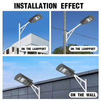 Smuxi High Quality LED Solar Street Light 20W/40W/60W Super Bright Motion Sensor Waterproof Security Lamp for Garden Yard Wall