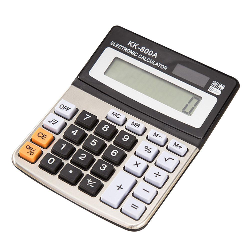 Desktop 8 Digit Electronic Large Screen Calculator Office Computer Financial Accounting Stationery image