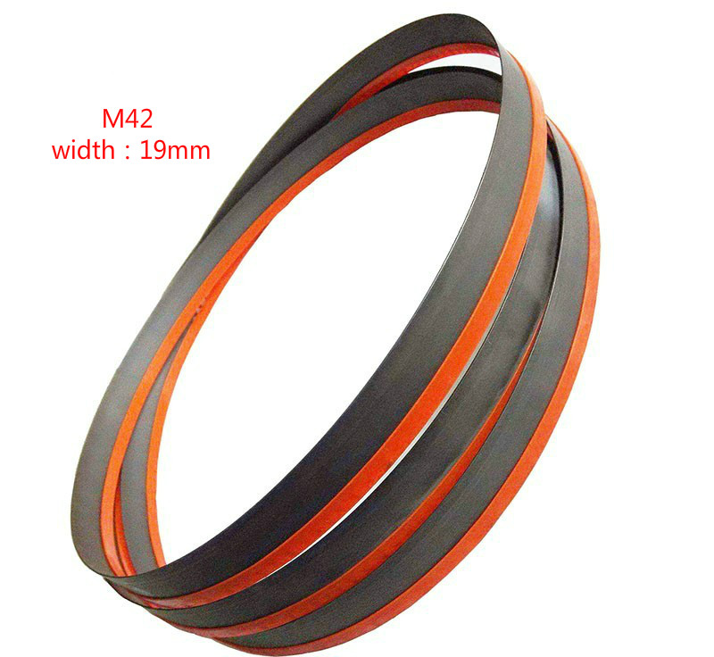 "Hoja de sierra de cinta bimetálica de 93 ""(7 '9"") x 3/4 ""x 5 / 8pi o 2362 * 19 * 0.9 * 5 / 8tpi bimetálica para cortar metal M42 de alta calidad"