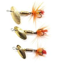 LUSHAZER 2g - 7.4g Sequin Spoon Fishing Lures Metal Spinner Feather Crankbait Fishing Baits Hard Fish Lure Tackle Pesca Iscas 4pcs lot fishing lures wobbler tackle sequin spoon wobble spinner baits crankbait bass with feather hooks pesca isca artificial