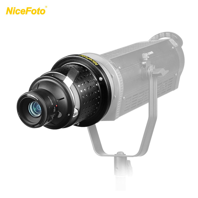 NiceFoto SN-29 Flash Concentrator Conical Snoot Video Light Art Styling with YONGNUO YN50mm F1.8 Lens Bowens Mount Accessories