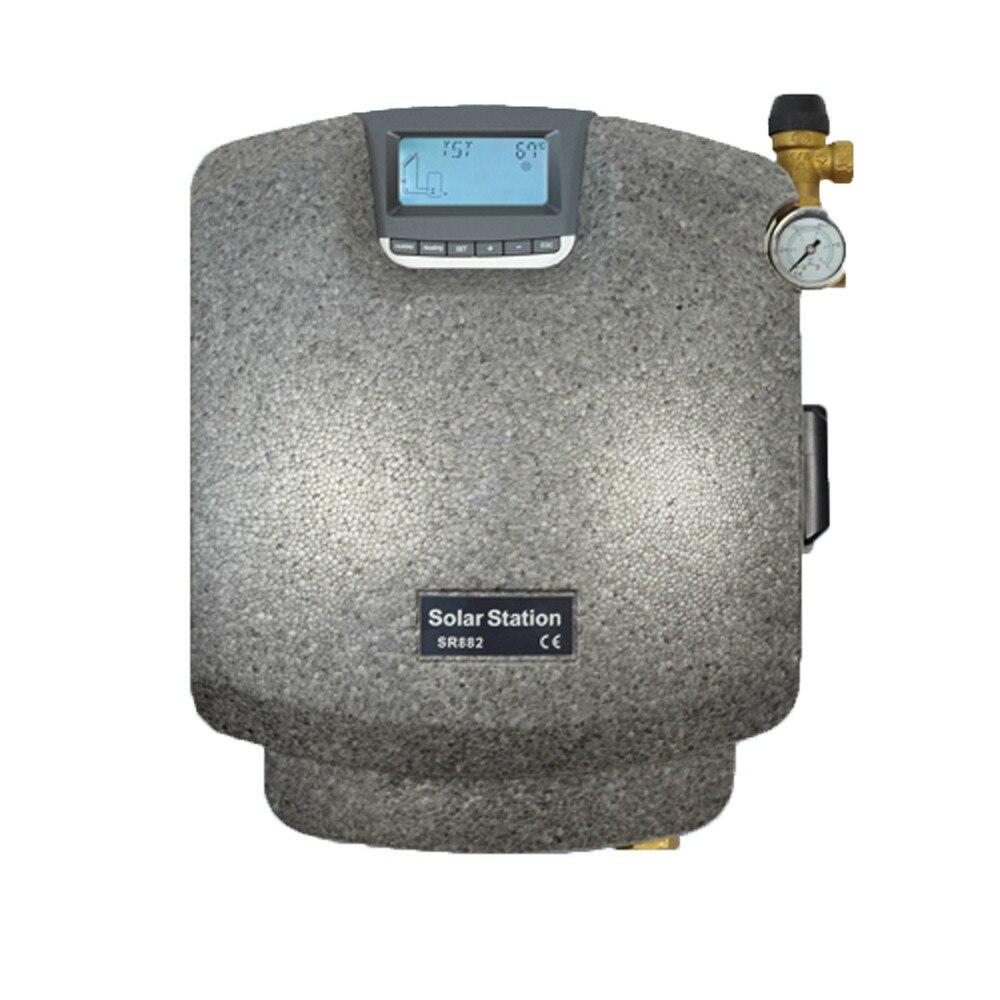 Double pipeline Solaire Pompage D'eau de Chauffage Pmp Station eau Solaire élément de Chauffage thermique contrôleur