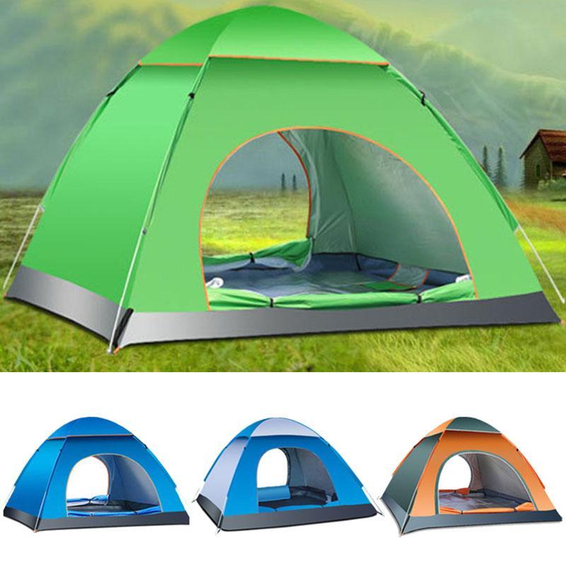 Tentes de famille de 3-4 personnes tentes pliantes automatiques tente de plage Camping Double vitesse pour ouvrir le rejet