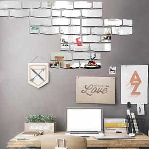 24pcs Mirror Wall Stickers Hom
