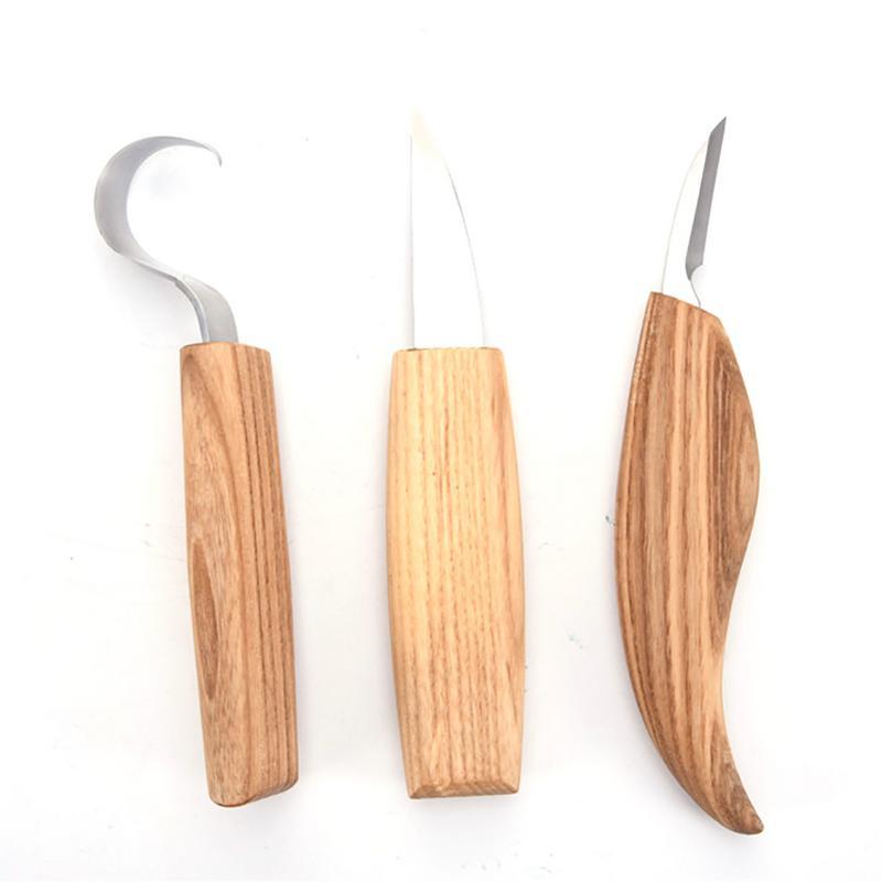 3pcs/Set High Manganese Steel Paring Wooden Engraving Knife DIY Spoon Wood Handle Carving Knife Woodcut Tools3pcs/Set High Manganese Steel Paring Wooden Engraving Knife DIY Spoon Wood Handle Carving Knife Woodcut Tools