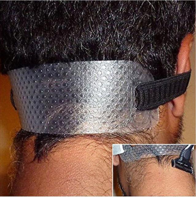 Новая направляющая для вырезания волос на шее, инструменты для самостоятельной чистки изогнутой линии шеи, триммер для волос в стиле взрыва, клипса, расческа для стрижки волос с бахромой