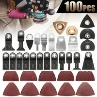 100Pcs Mix Oscillating Multi Tool Carbon Steel Saw Blades for Fein Bosch Makita