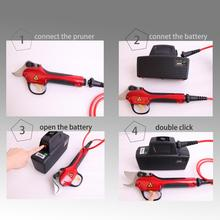 Electric pruning shear garden and vineyard CE certificate Can work 8 10 hours free shipping