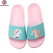 Children Beach Slippers Unicorn Shoe Kids Flip Flops Baby Barefoot Shoes Swim Water Girls Sea Summer 36-41