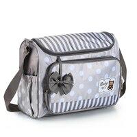 Fashion Cartoon Mom Baby Carriage Bag Stripe Mommy Baby Care Bag Diaper Nappy Stroller Bag Borsa Passeggino Bolsa De Maternidade
