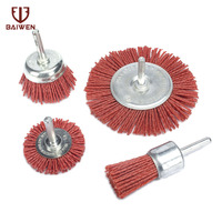 4Pcs Abrasive Wire Brush Head For Deburring Polishing 25 100mm Dremel Accessories