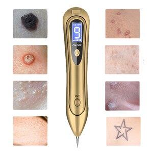 Image 2 - Точечный светильник с ЖК дисплеем, 9 уровней, плазменная кожа, кроты, темные веснушки, точка, бирка для лица, татуировка, Удаление родинок, ручка для пятен
