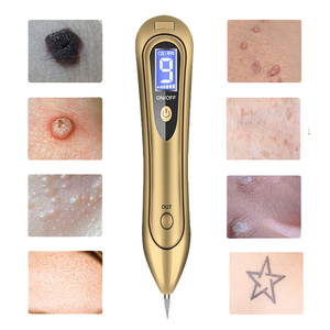 Image 2 - Spotlight Wart Remover LCD Laser 9 level Plasma Skin Moles Dark Freckle Dot Face Tag Tattoo Beauty Mole Removal Sweep Spot Pen