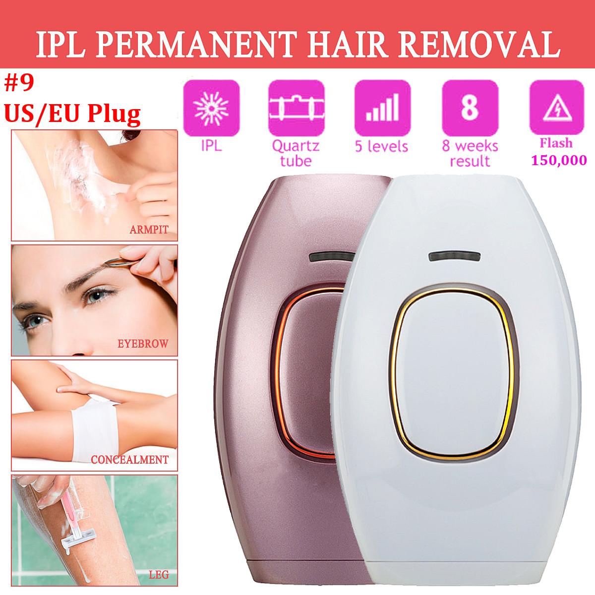 웃 유ipl Epilator Laser Hair Remover Photo Women Facial Hair