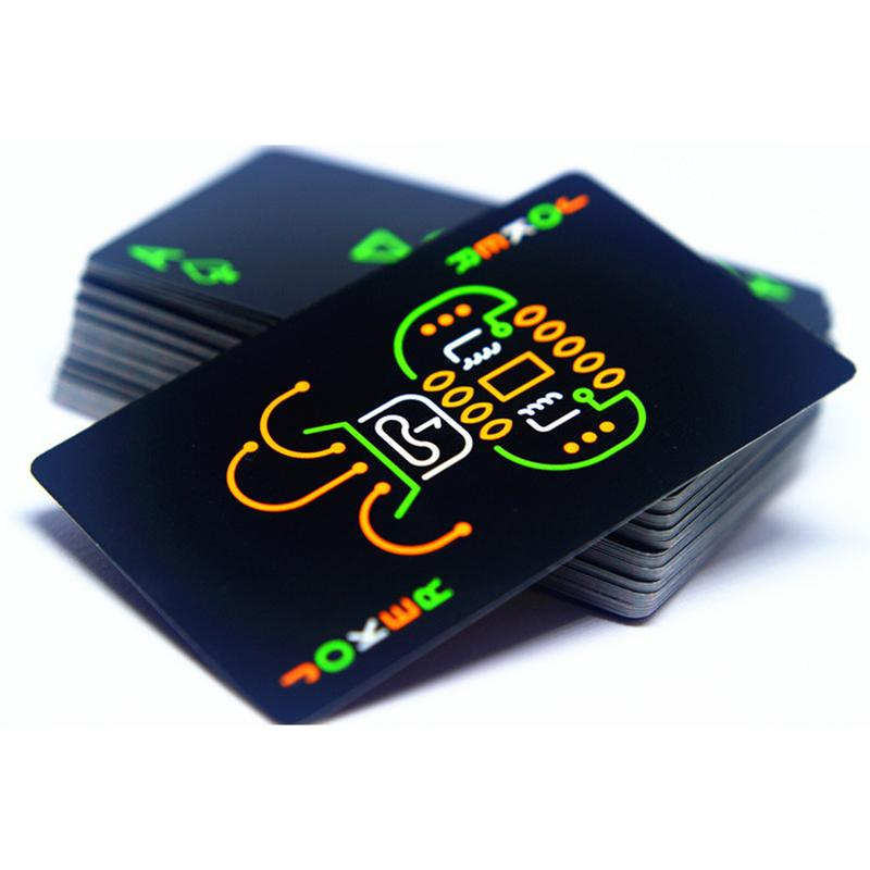 2019 Playing Cards Poker Glow In The Dark Bar Party KTV Night Luminous Collection Special Poker Game Playing Cards Color Random