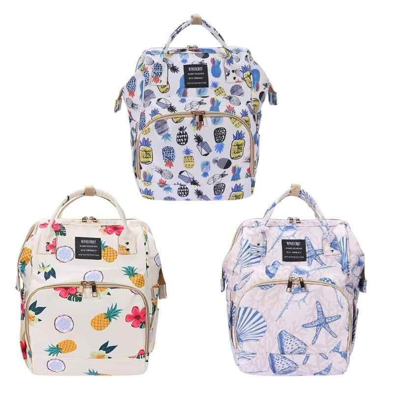 Portable Mummy Diaper Bag Printed Maternity Nursing Large Capacity Pregnancy Travel Backpacks Waterproof Mother Ny