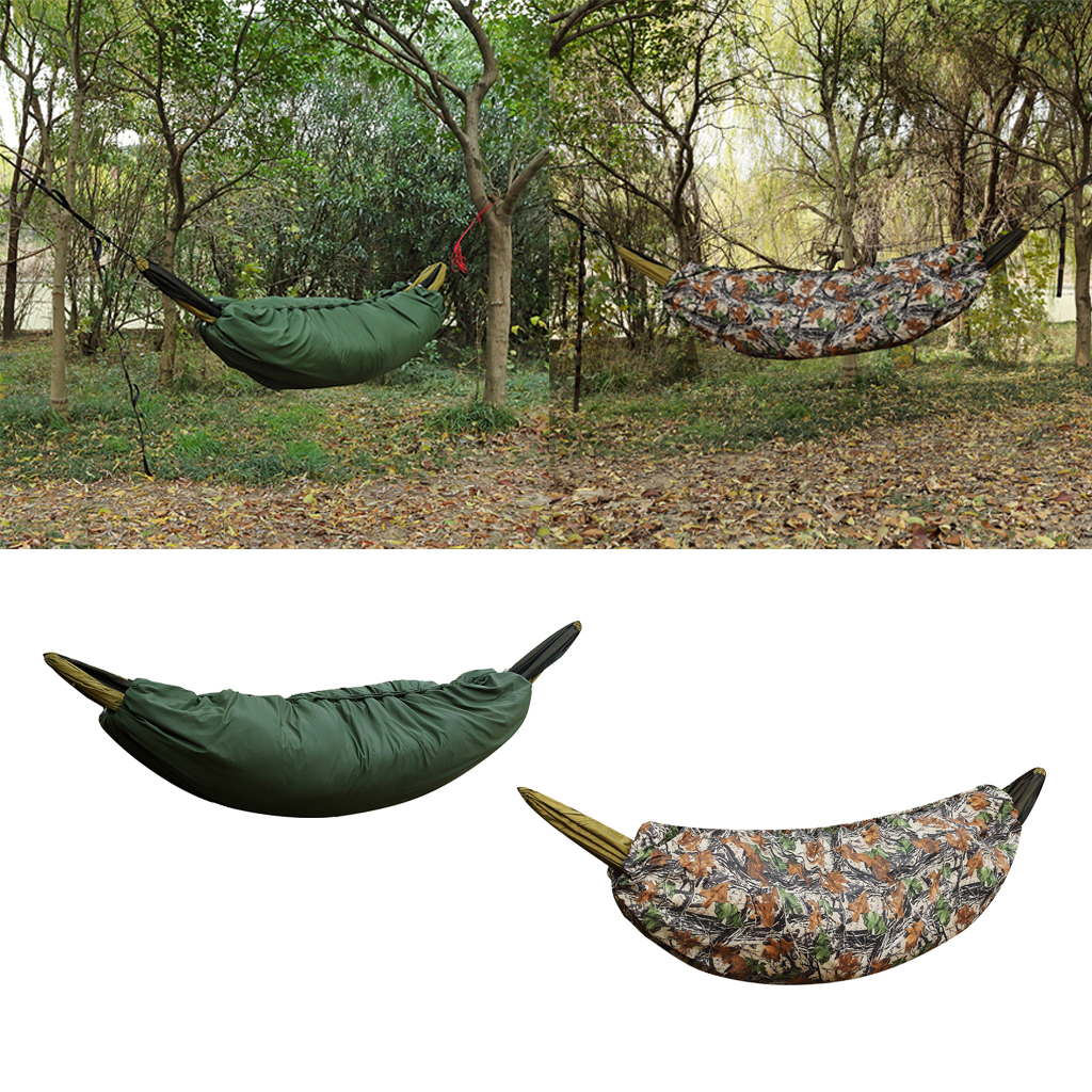 Portable Keep Warm Cold Winter Camping Hammock Underquilt Ultralight Full Length Under Blanket With Carrying Bag Fashionable Patterns Camp Sleeping Gear Sleeping Bags