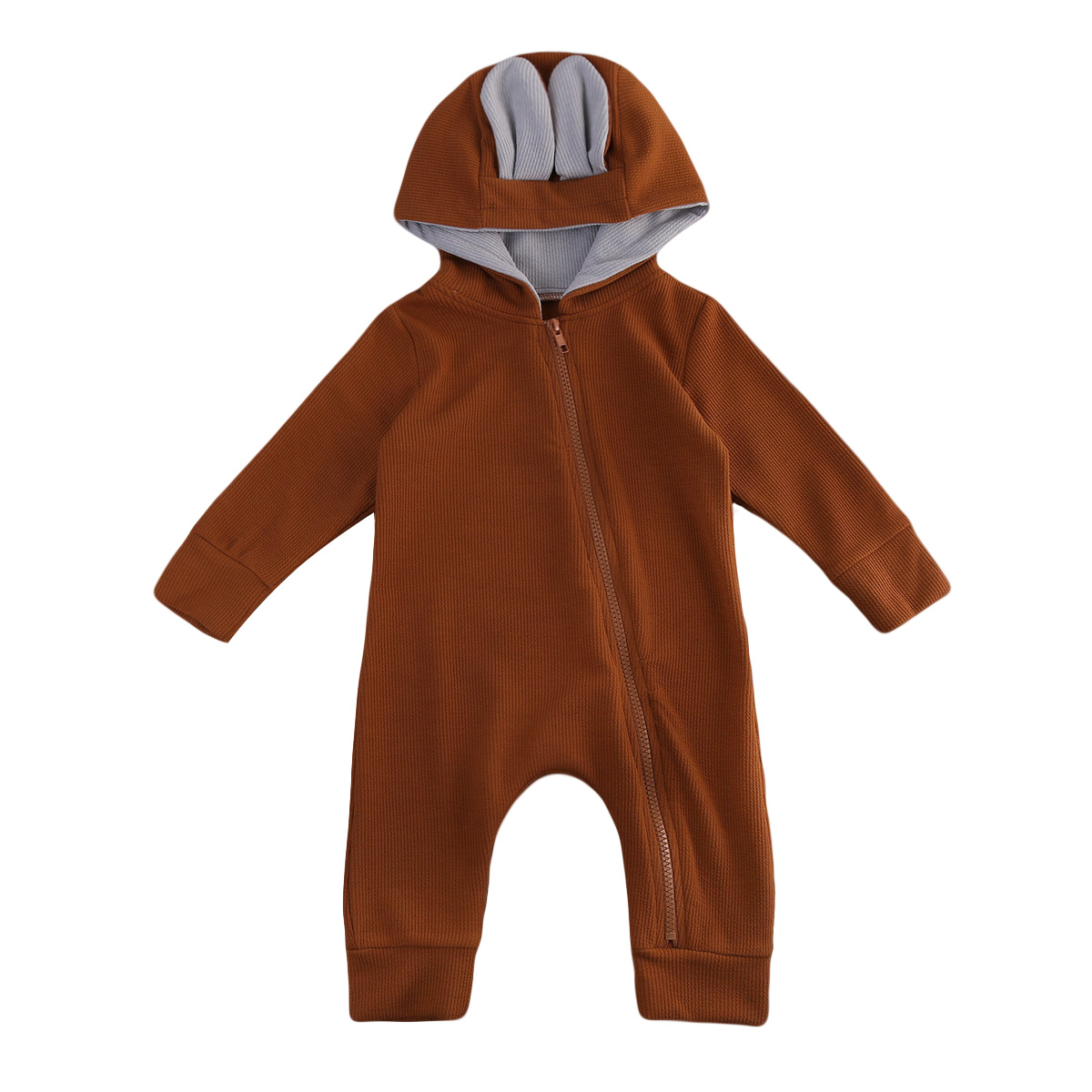 Bodysuits & One-pieces Baby Brown 3d Deer Romper Cottons Autumn 2018 Sika Deer Long Sleeve Girl Boy Clothes Cute Winter Hooded Jumpsuit Baby