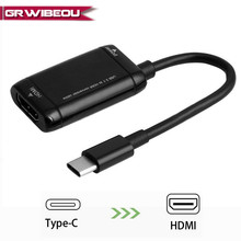 Top USB 3.1 Type C naar HDMI 1080 P Adapter USB3.1 USB-C naar HDMI Converter voor Mobile High Definition Link android Telefoon Tablet(China)