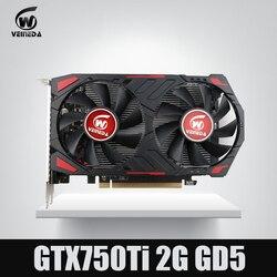 新しい gtx 750 ti 2 グラム veineda コンピュータビデオカード GDDR5 グラフィックスカード nvidia の geforce ゲーム