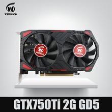 بطاقة فيديو جديدة من طراز GTX 750 Ti 2G VEINEDA ، بطاقات رسومات GDDR5 لألعاب nVIDIA Geforce