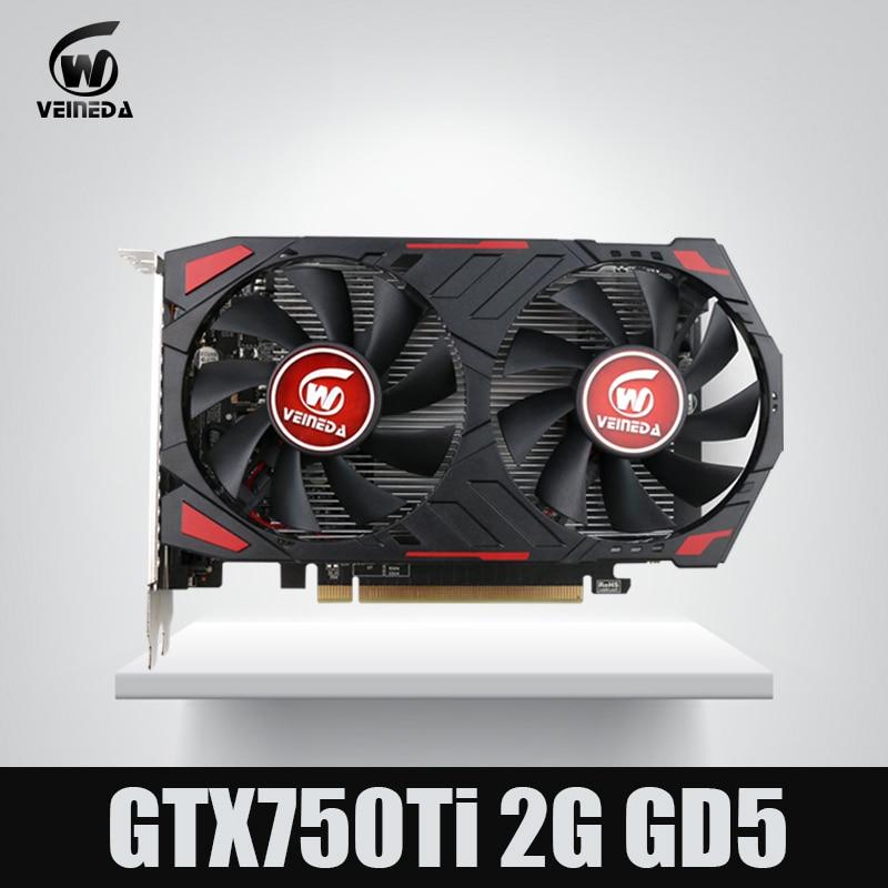 NOUVEAU GTX 750 Ti 2G VEINEDA Ordinateur Vidéo Carte GDDR5 cartes graphiques Pour nVIDIA Geforce Jeux